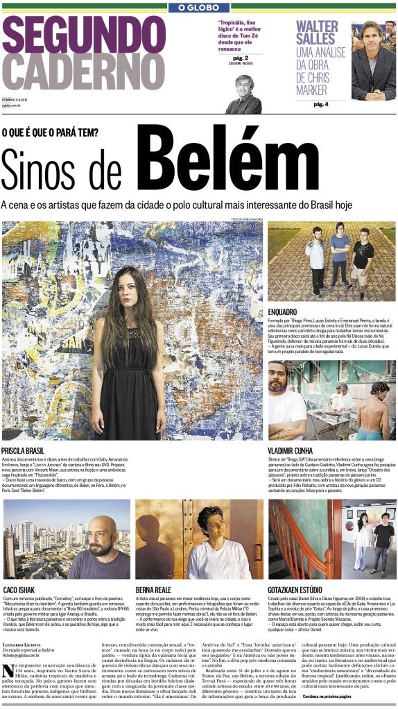 O Globo - Segundo Caderno - Capa - 05.08.12